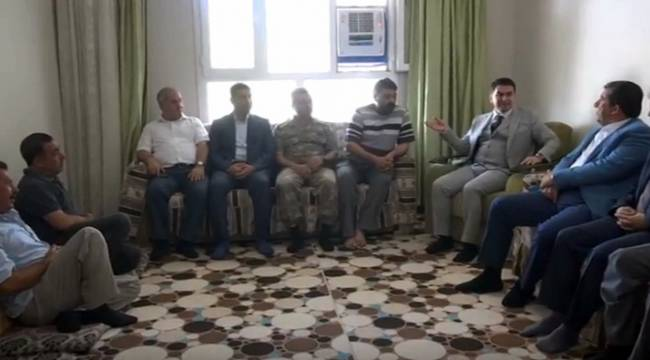 Ceylanpınar'da şehit ailesine ziyaret-Videolu Haber
