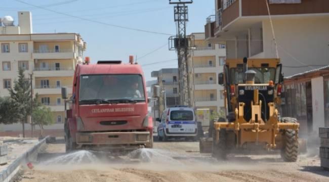 Cumhuriyet Mahallesinde üst yapı çalışması-Videolu Haber
