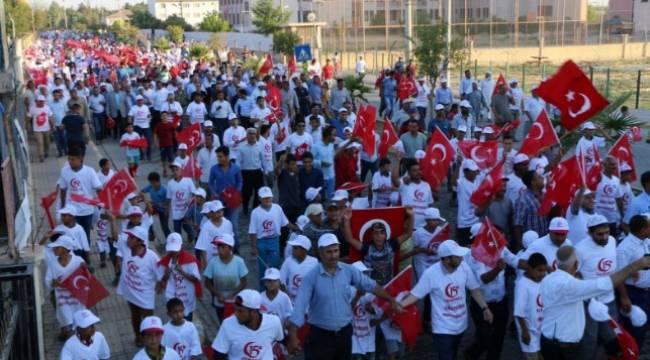 Harran'da milli birlik yürüyüşü
