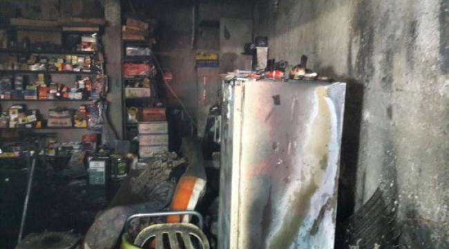 İş yerindeki yangın büyümeden söndürüldü