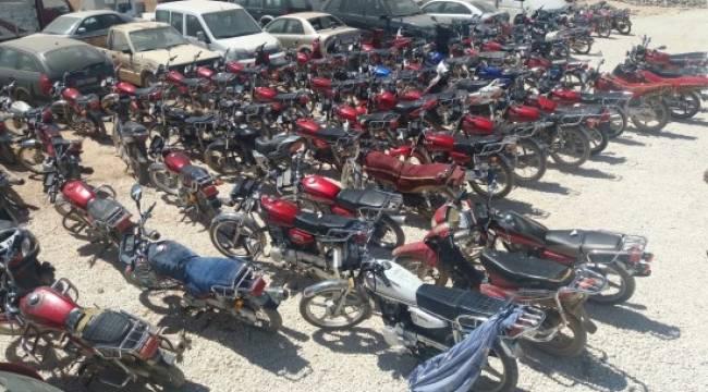 Şanlıurfa'da 166 çalıntı motosiklet ele geçirildi