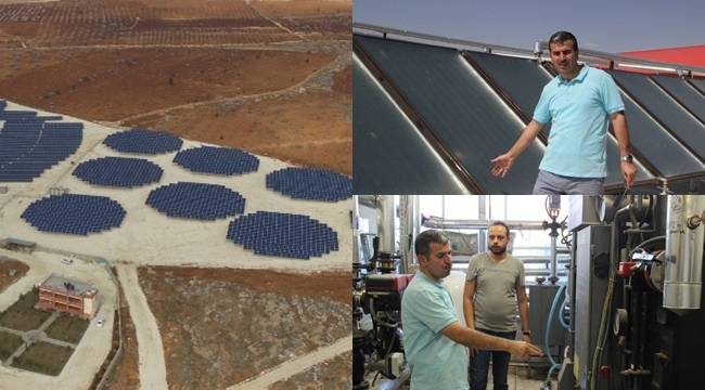Şanlıurfa'da Güneş ışınları hem yakıyor hem de enerjiye dönüşüyor