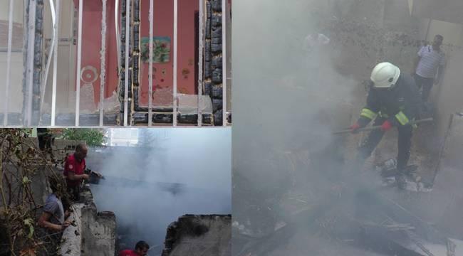 Şanlıurfa'da sigara izmariti yangına çıkardı