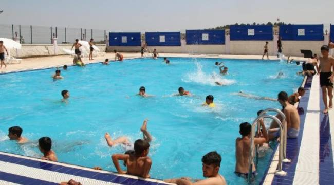 Şanlıurfalılara ücretsiz havuz keyfi