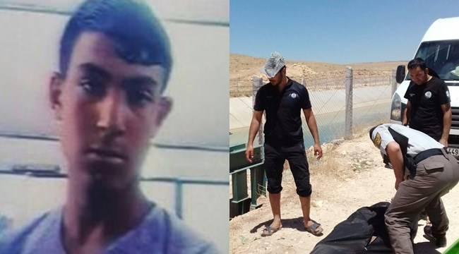 Sulama kanalına giren Suriyeli genç boğuldu