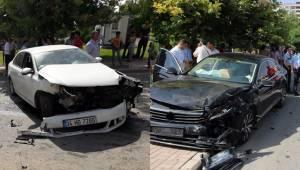 Urfa'da ehliyeti olmayan öğrenci kaza yaptı