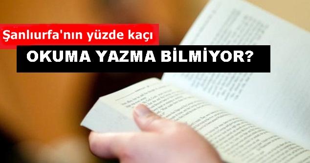 Urfa'da okuma yazma bilmeyen oranı açıklandı