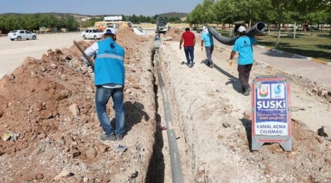 Urfa Merkez'de kanalizasyon hatları döşeniyor