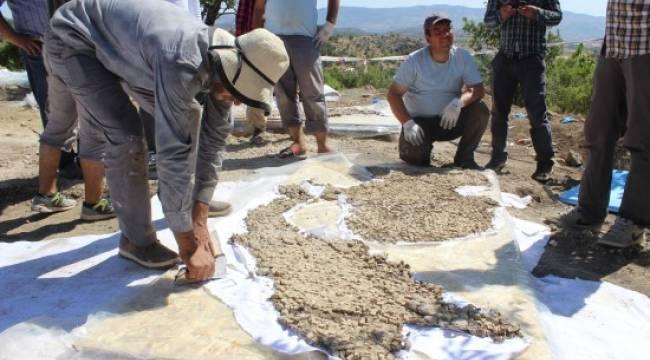 1600 yıllık mozaik yerinden kaldırıldı