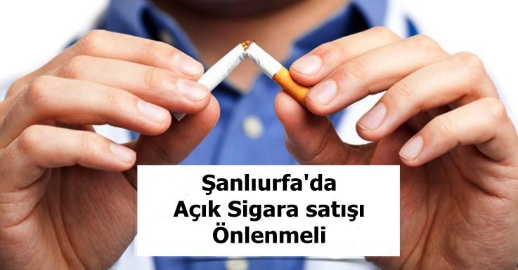 Açık sigara satışları önlenmeli