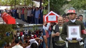 Bıçaklanarak Öldürülen Urfalı Asker defnedildi