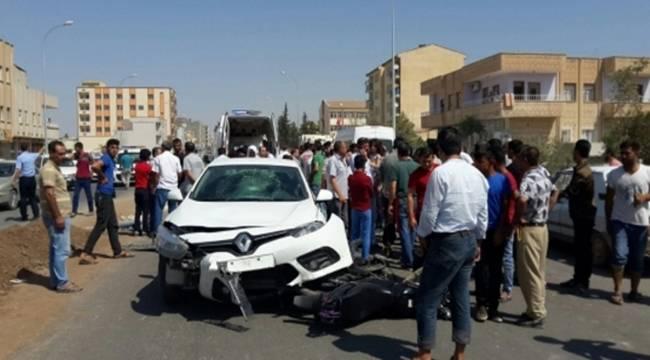 Ceylanpınar'da trafik kazası: 2 yaralı