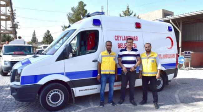 Ceylanpınar'da ücretsiz ambulans hizmeti-Videolu Haber