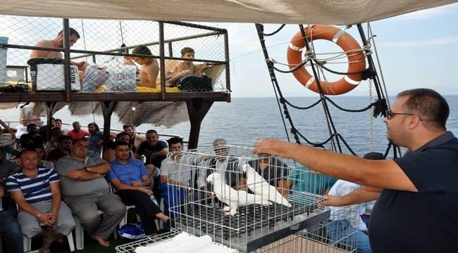 Güvercin severler tekne mezatında buluştu