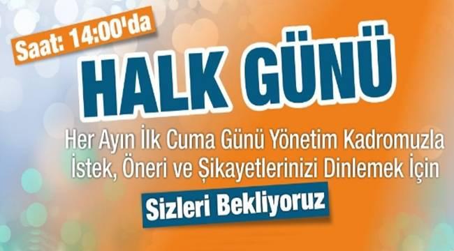 Haliliye'de halk günü toplantısı 4 Ağustos'ta yapılacak