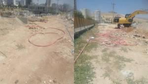 Karaköprü'de Elektrik kablolarının patlatıldığı iddia edildi
