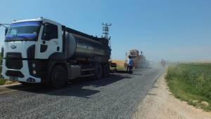 Karaköprü Kırsalında Yoğun Asfalt Çalışması-Videolu Haber