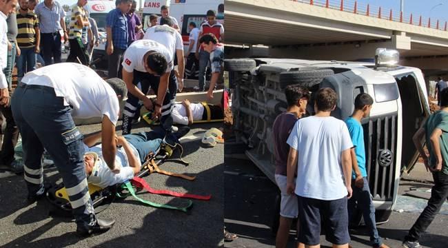 Şanlıurfa'da trafik kazası, 9 yaralı