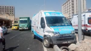 Şanlıurfa'da zincirleme kaza : 1 yaralı