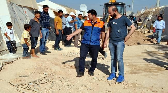 Süleyman Şah Çadır kentinde elektrik hatları izole ediliyor