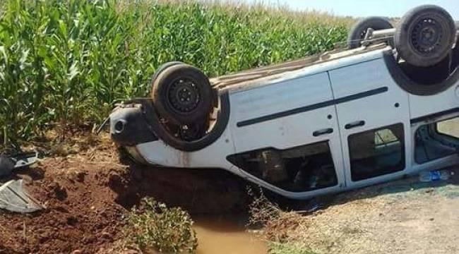Suruç'ta otomobil takla attı, 1 Yaralı