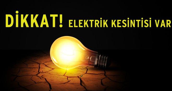 Urfa'da 4 İlçede, birçok mahallede elektrikler kesilecek