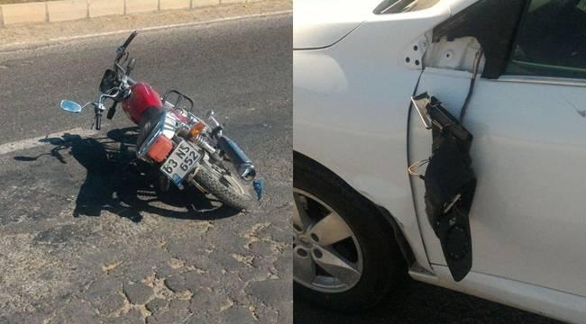 Urfa'da maddi hasarlı kaza, 1 yaralı