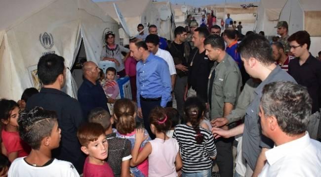 Vali Erin Suruç'ta Suriyeliler ile bir araya geldi