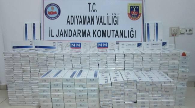 6 bin 889 paket gümrük kaçağı sigara ele geçirildi