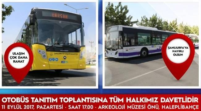 65 Yeni otobüs Urfa'ya hizmet vermeye başlayacak-Videolu Haber