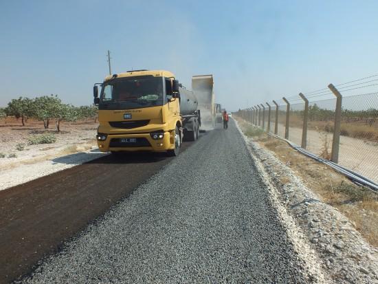 Birecik kırsalında asfalt seferberliği