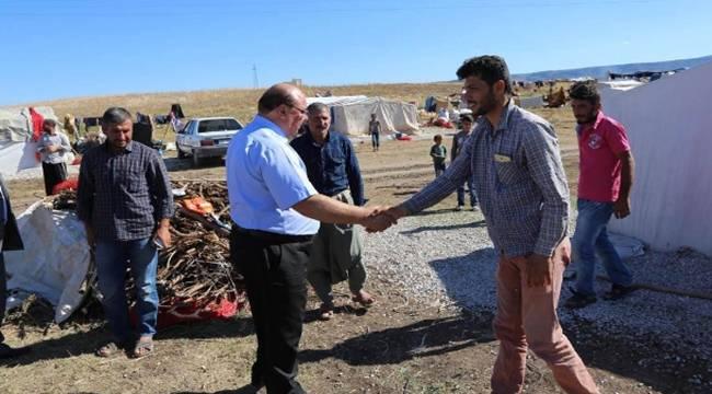 Çorum'da Urfalı Tarım İşçilerine yeni çadır kuruldu