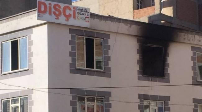 Dişci Muayenehanesinde Yangın