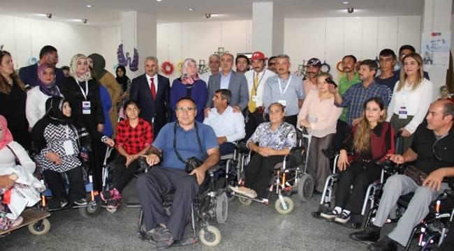 Engellilerden engelleri aşan sergi-Videolu Haber