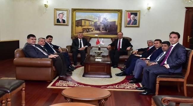 Gaziantep'li Yargı Mensuplarından Vali Erin'e Ziyaret
