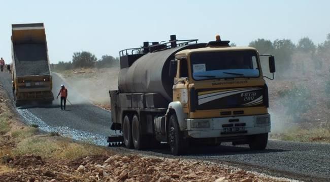 Halfeti Kırsalı sathi asfalt ile kaplanıyor-Videolu Haber