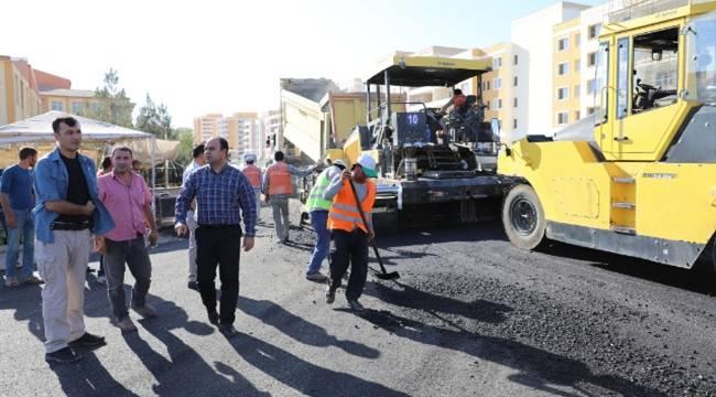 Karaköprü'de sıcak asfalt çalışması-Videolu Haber