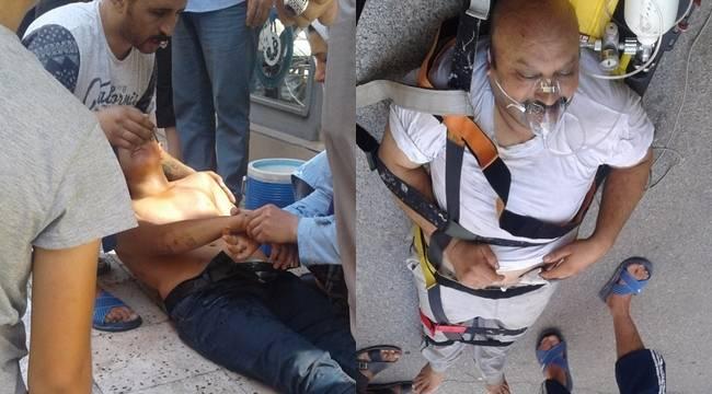 Urfa'da Tiner İki kişiyi hastanelik etti