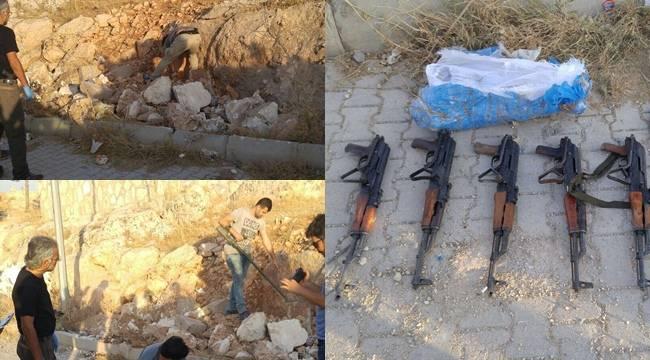 Urfa'da uzun namlulu silahlar ele geçirildi