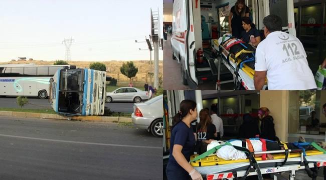Urfa'da Yolcu Otobüsü takla attı