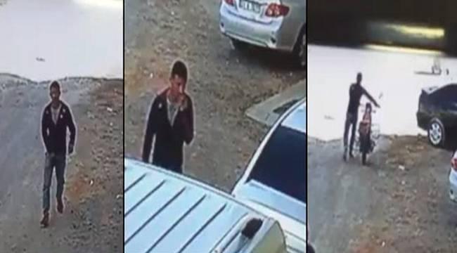 Motosiklet hırsızlığı güvenlik kamerasına yansıdı