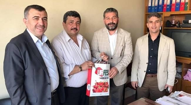 Özçınar ve Şengöz'den Gazeteciler Dernek Başkanına Ziyaret