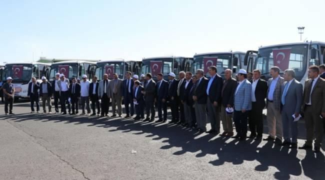 Şanlıurfa Büyükşehir'den 10 ilçe Belediyesine 10 Otobüs-Videolu Haber