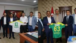 Şanlıurfaspor Başsavcı ve DSİ 15. Bölge Müdürünü ziyaret etti