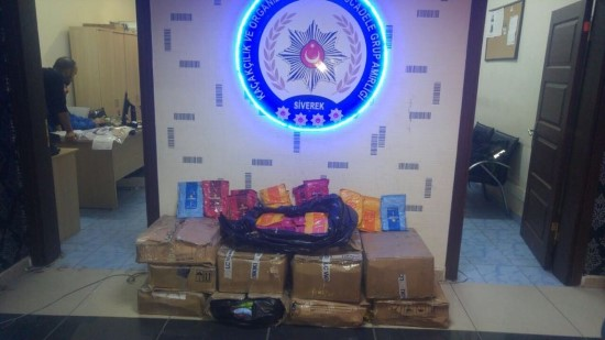 Siverek'te 10 bin paket kaçak sigara ele geçirildi