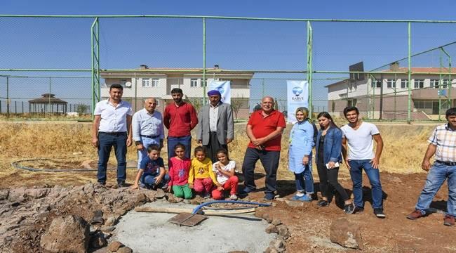 Siverek'te Okullarda yapılan su kuyuları açıldı