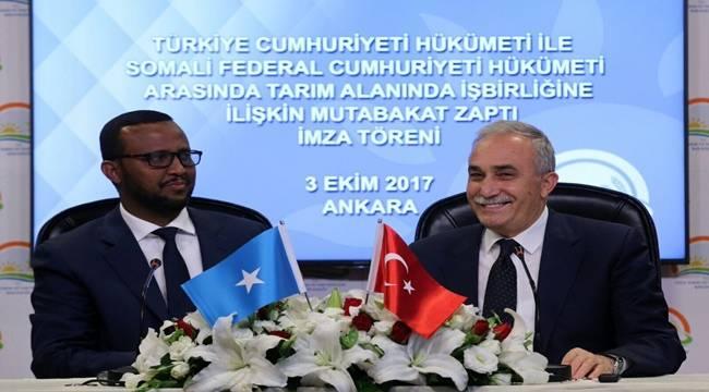 Somali ile Tarım Alanında İşbirliği yapılacak