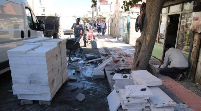Urfa'da Kaldırımlar Yenileniyor-Videolu Haber
