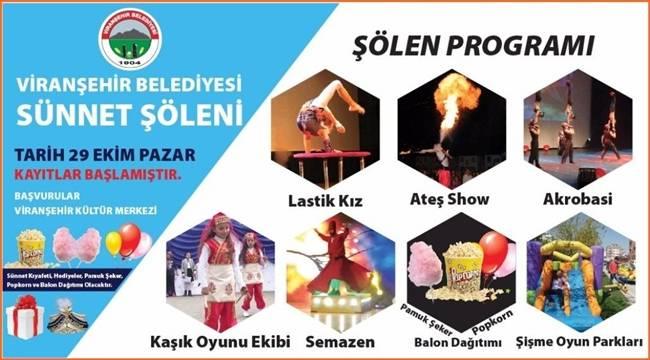 Viranşehir Toplu Sünnet Şölenine Hazırlanıyor
