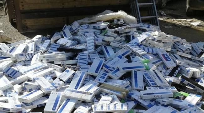 10 bin paket kaçak sigara yakalandı